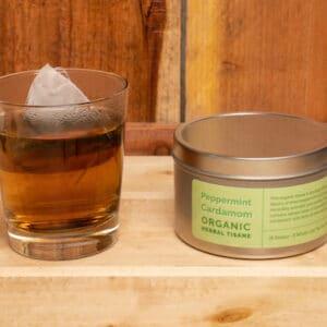 Peppermint Cardamom Organic Herbal Tisane