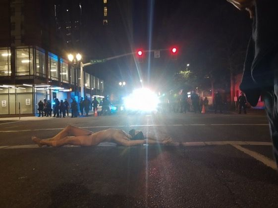 07:18:2020 Portland OR naked protestor