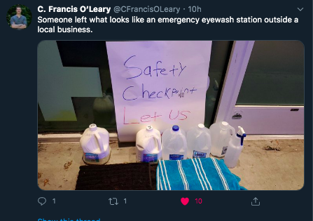 07:25:2020 Eugene OR supplies left for protesters wholesome