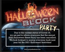 Halloween 2020 Street Party cancelled