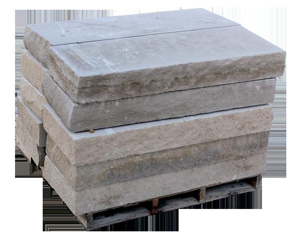 Indiana Limestone Snapped Steps