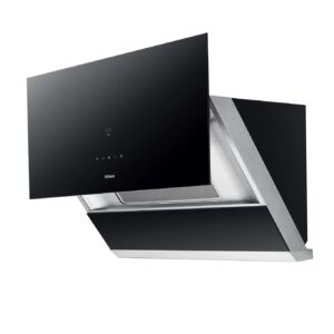 ROBAM A671- 30″ Slanted Black Glass Under Cabinet or Wall Mount Range Hood
