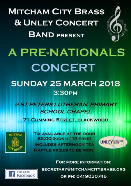 Pre-nationals Concert Poster