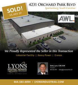 4231 Orchard Blvd. in Spartanburg Sold to AWL Techniek