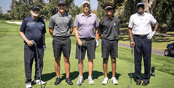 Cameron Champ with pro am group at Fortinet Championship