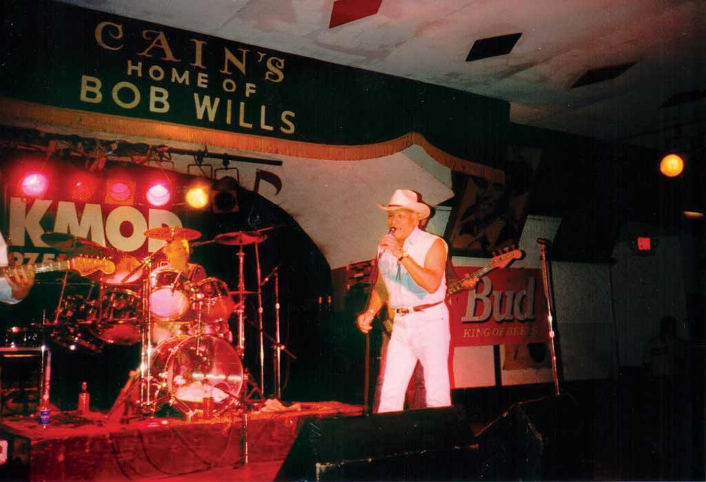 Bill Davis performs with drummer David Teegarden at Cain's Ballroom.