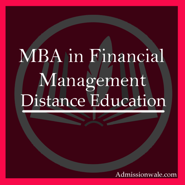 Distance MBA in Financial Management