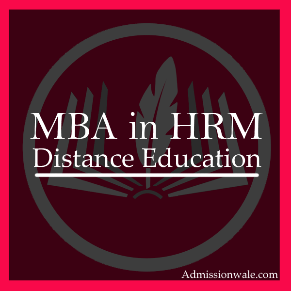 Distance MBA in HRM