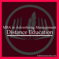 Distance MBA in Advertising Management