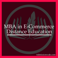 Distance MBA in E-Commerce