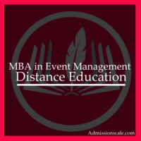 Distance MBA in Event Management