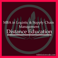 Distance MBA in Logistic and Supply Chain Management