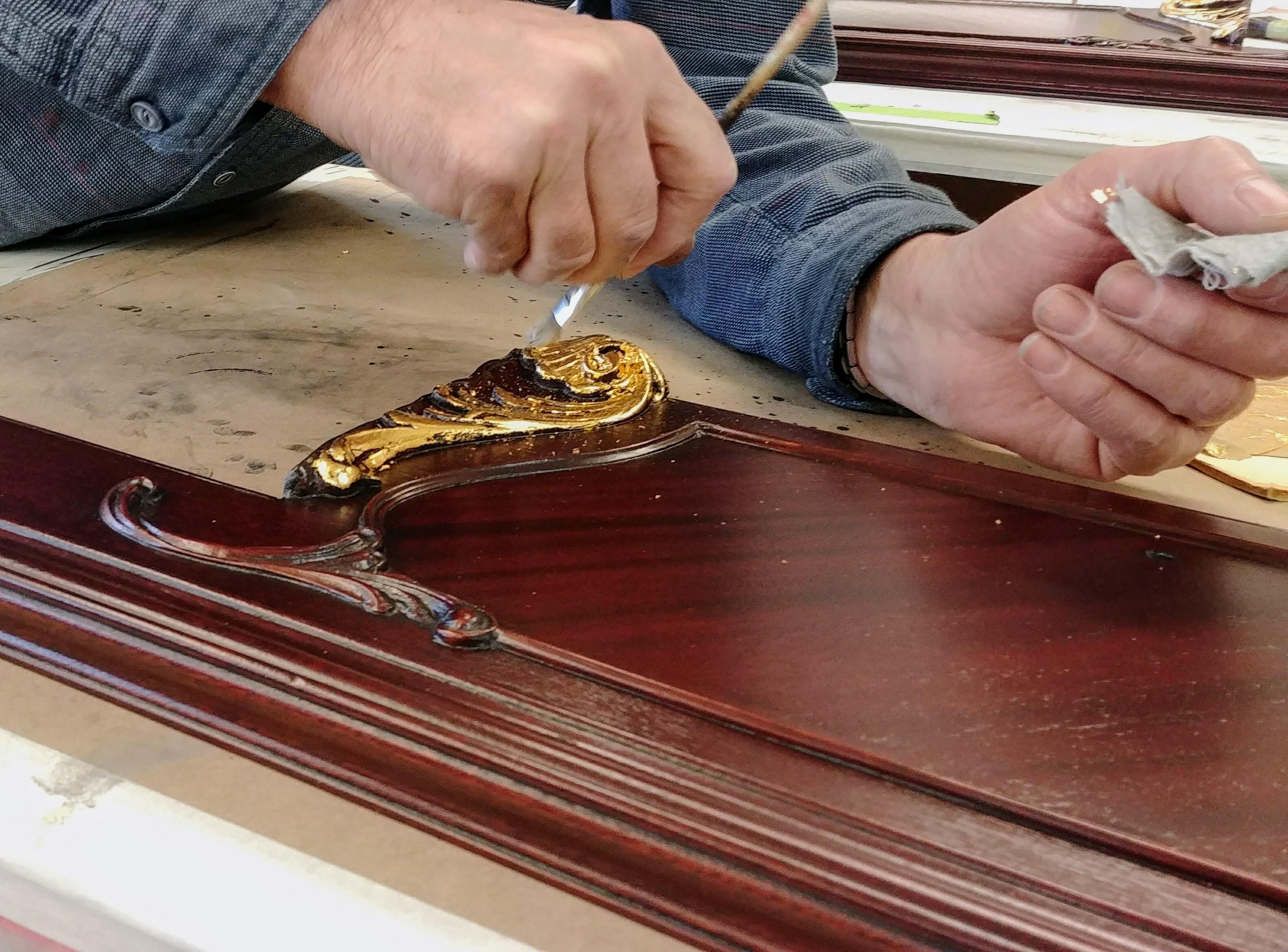 Gold leaf furniture FredEric's Framing