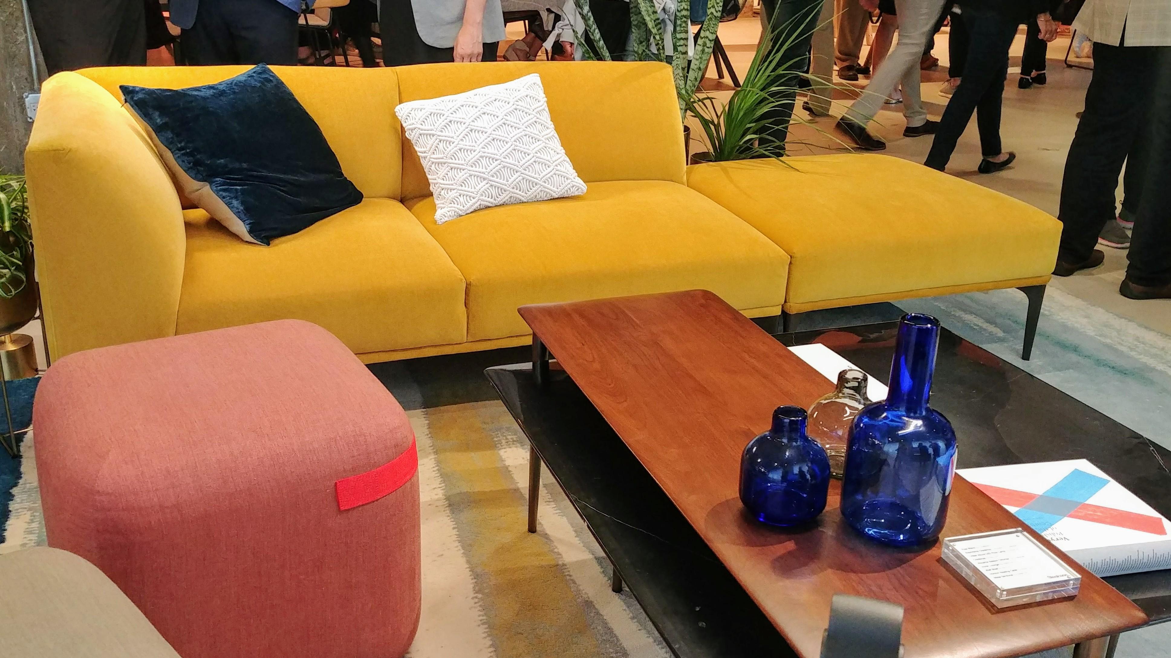 Herman Miller Velvet Sofa