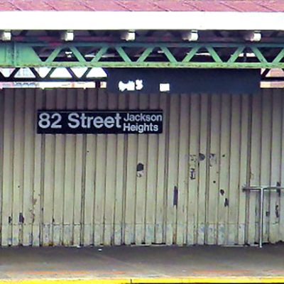 This is an image of 82nd St Jackson Heights Subway Station