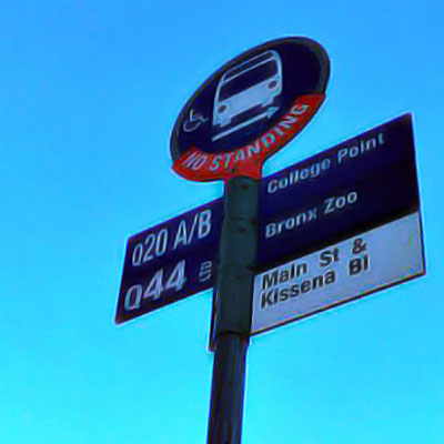 This is an image of College Point Bus Stop