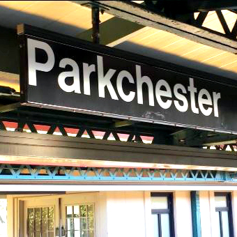 This is an image of a Parkshester Subway Station Sign
