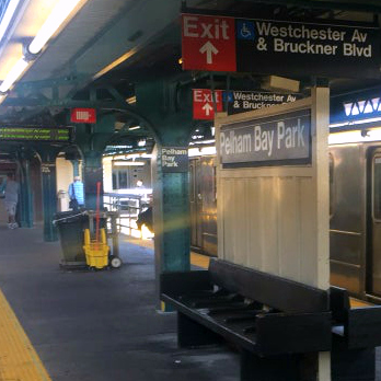 This is an image of Pelham Bay Park Subway Station Sign