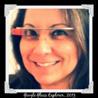 This is an image of Ruth as a Google Glass Exploxer in 2013