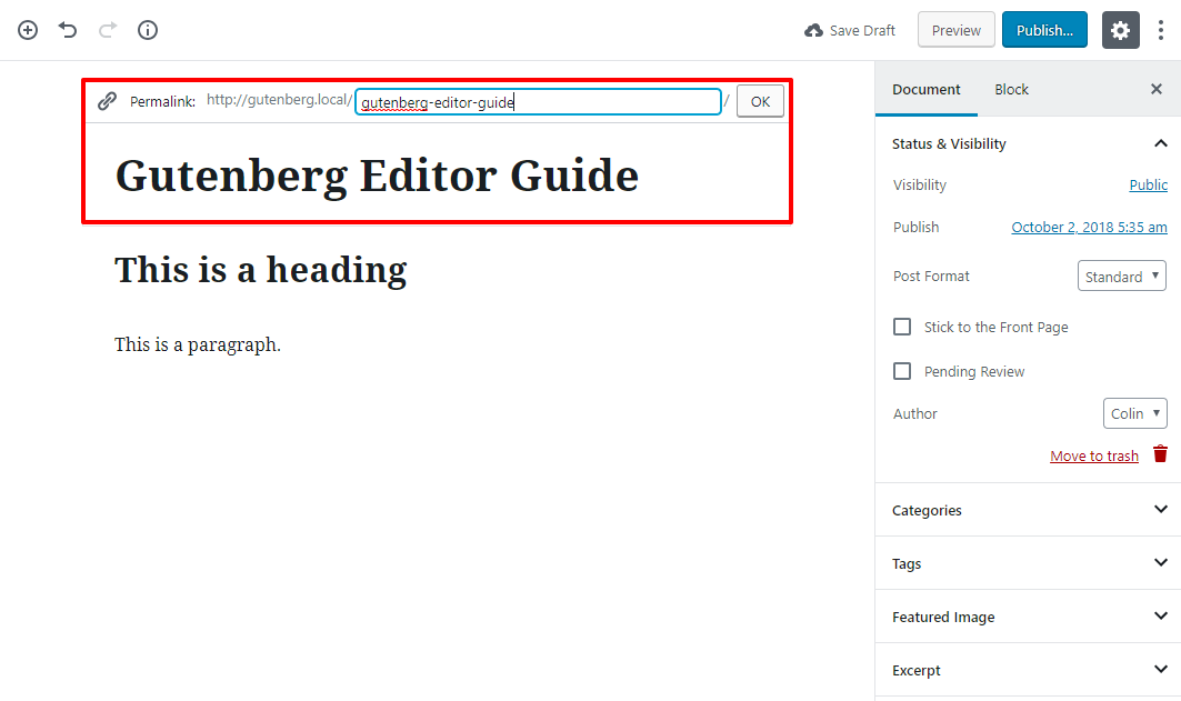 gutenberg editor tutorial basic 14 1