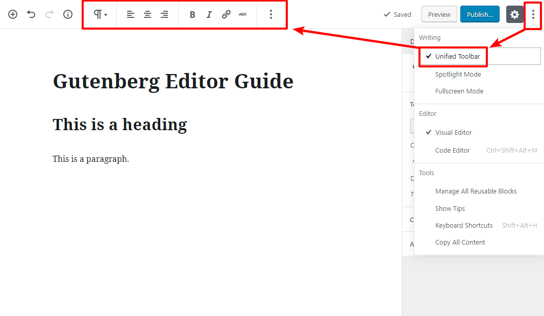 gutenberg editor tutorial basic 17 1