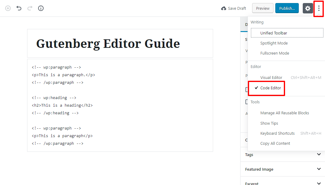 gutenberg editor tutorial basic 18 1 1