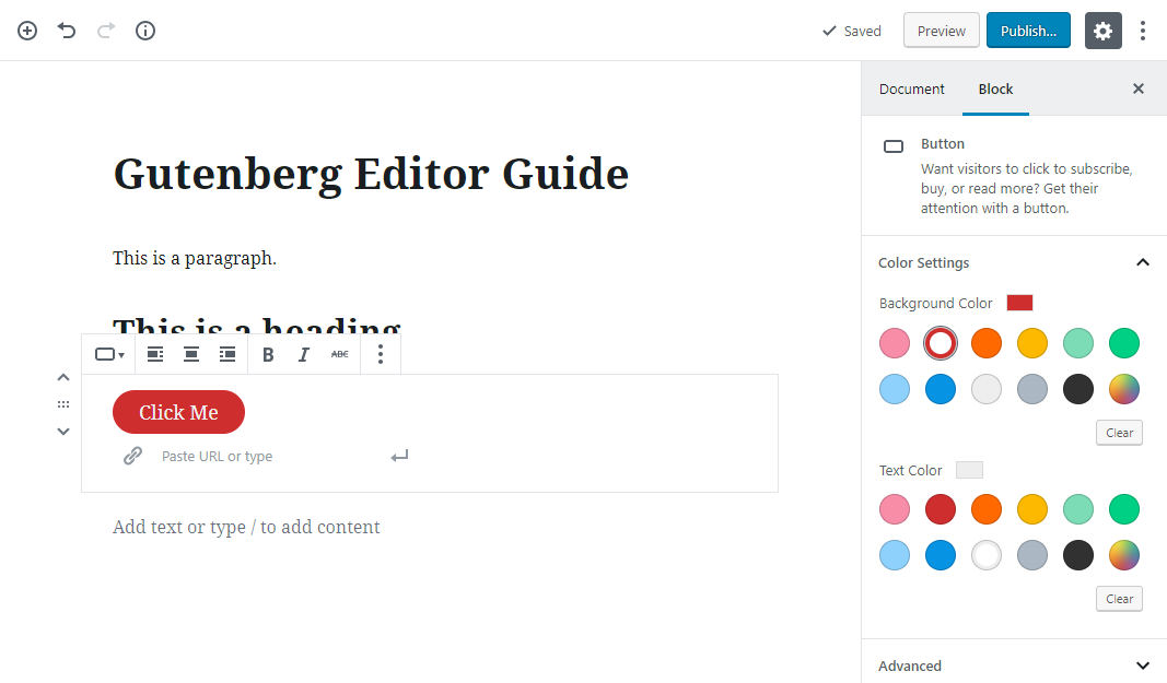 gutenberg editor tutorial basic 19