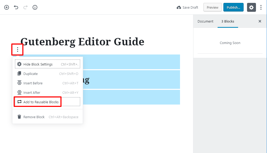 gutenberg editor tutorial basic 22