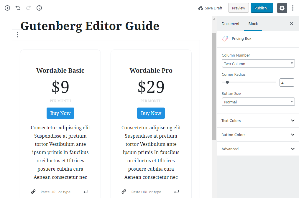 gutenberg editor tutorial basic 25 1