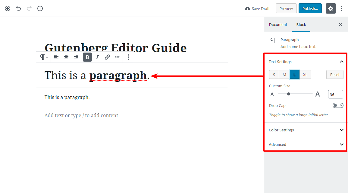 gutenberg editor tutorial basic 3 1