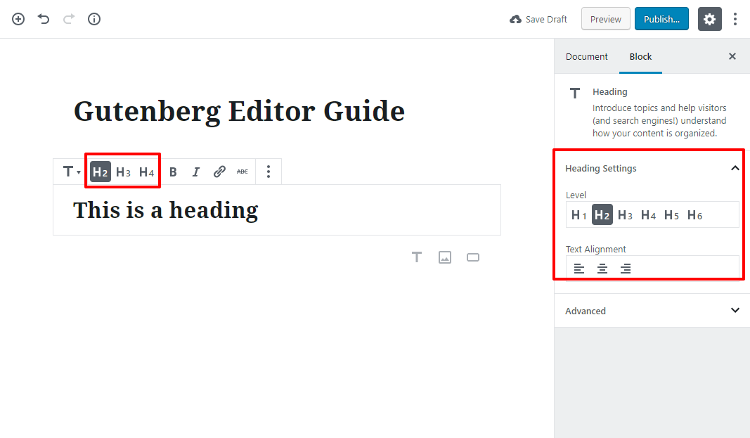gutenberg editor tutorial basic 5 1