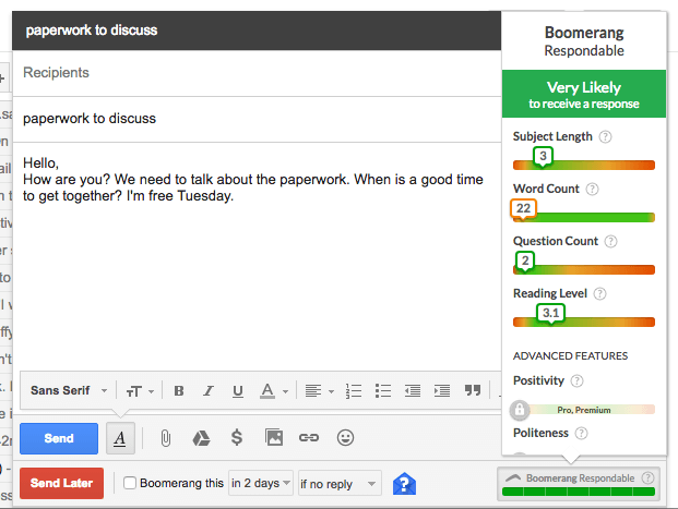 boomerang for gmail respondable
