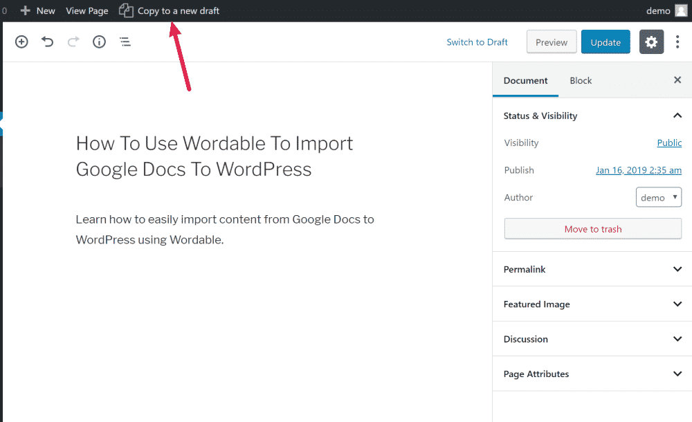 How To Duplicate a WordPress Page or Post in Mere Seconds - Wordable