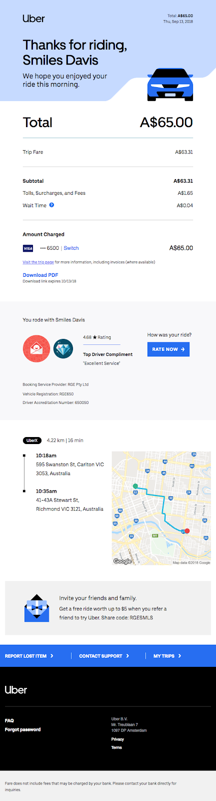 business your thursday morning trip with uber