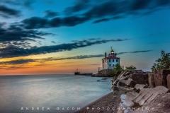 Dusk at the Mentor Headlands Lighthouse