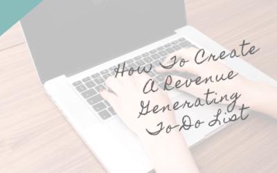 Revenue Generating To Do List