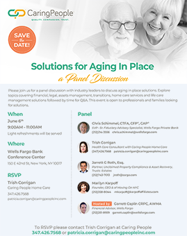 Karpoff Affiliates Event Aging in Place