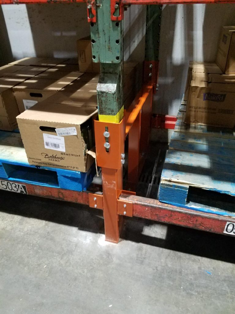 Double Post Warehouse Pallet Rack Repair Kit