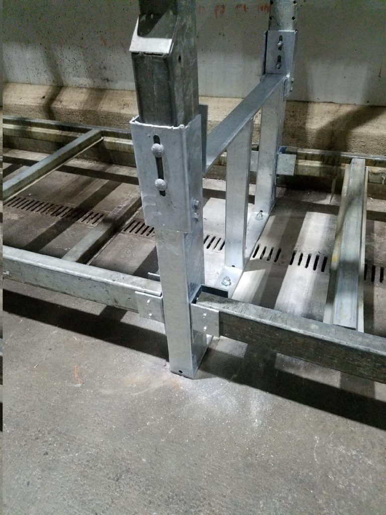 Galvanized Pallet Rack Repair Kit with Hook Over