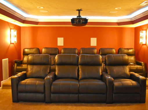 Fishers Home Theater Basement
