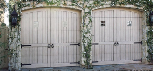 French Country Weathered Wood Garage Door
