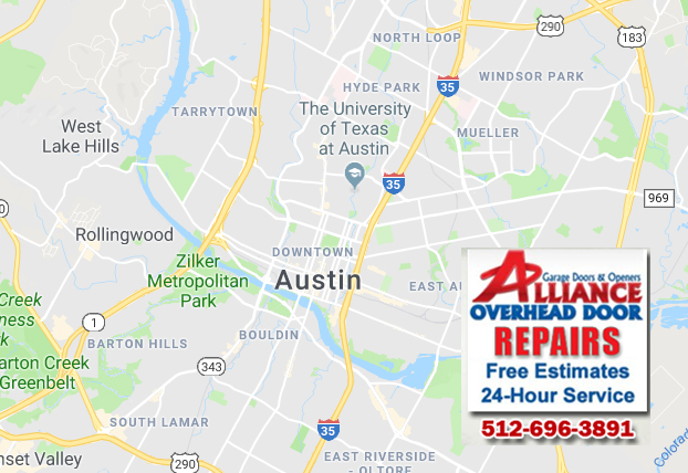 Overhead Garage Door Service Area Austin