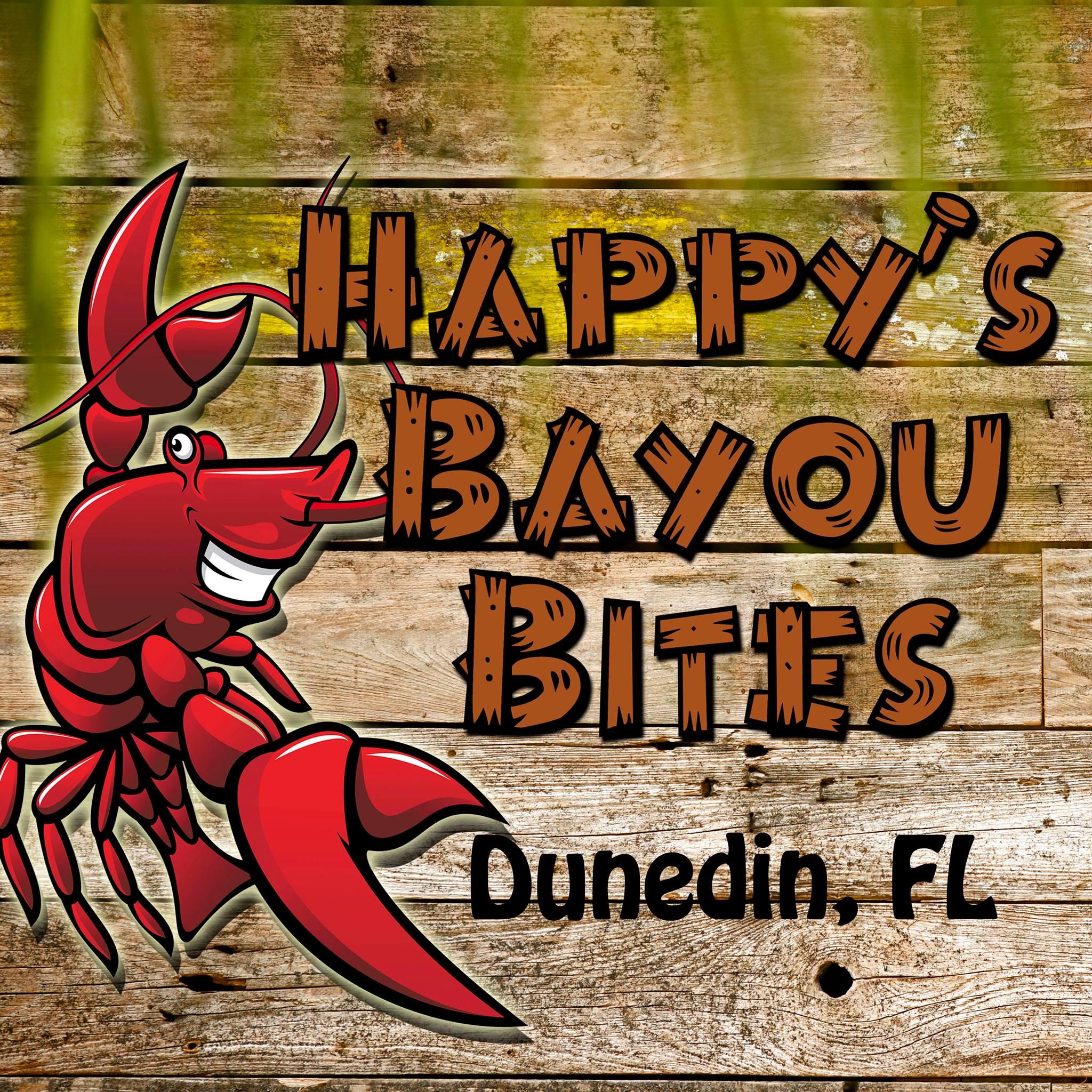 Happy's Bayou bites logo
