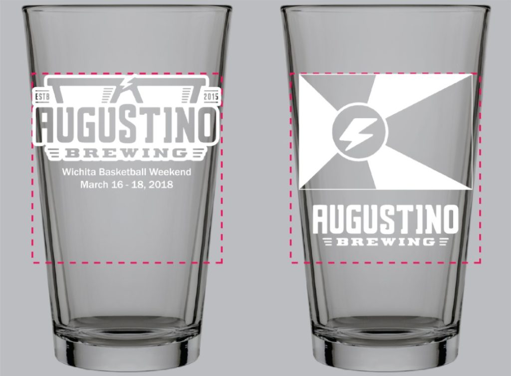 Augustino Brewing Company Commemorative Pint Glass Limited to only 144