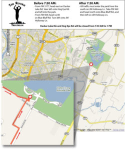Rookie Triathlon Parking and Spectator Map