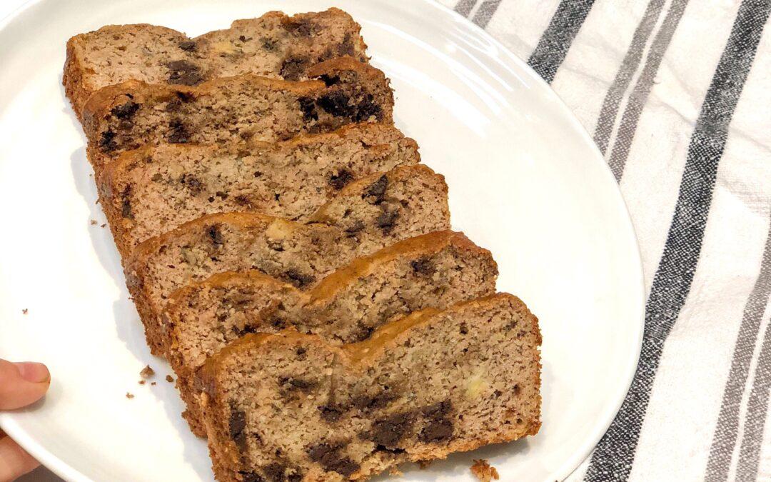 Gluten-Free Banana Bread with Dark Chocolate Chunks