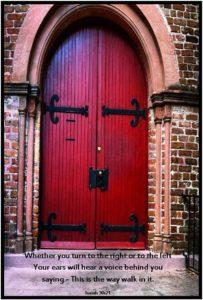 Red Door Isaiah 30-21
