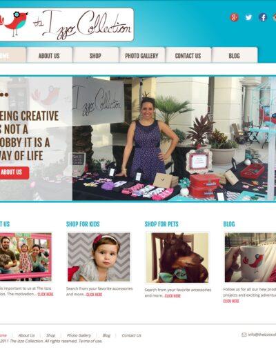 The Izzo Collection Website IBLP Design