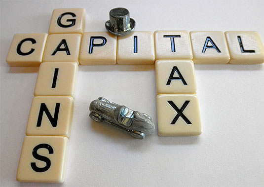 website sale taxes capital gain