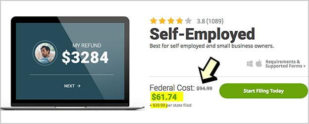 hr block self employed cost